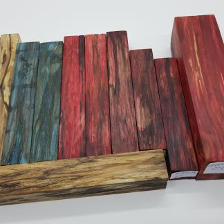 verschiedene Holzarten stabilisiert